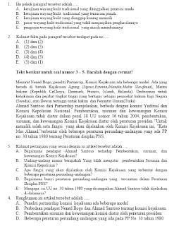 Latihan Soal Ujian Nasional SMA / MA / PAKET C Tahun 2013 Jurusan IPA