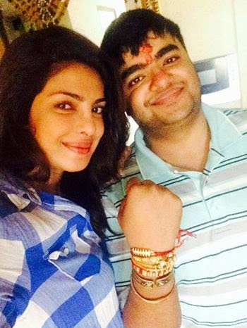 Priyanka Chopra celebrates Rakshabandhan with brother photo