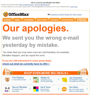 June 16, 2012 OfficeMax email