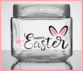 Happy Easter Ears Candy Jar
