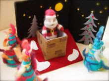 Felt 3D Christmas Scene