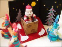 Felt 3D Christmas Scene