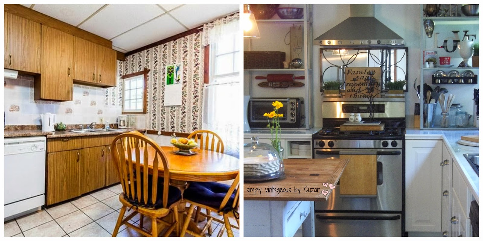 Before and after - a Kitchen makeover