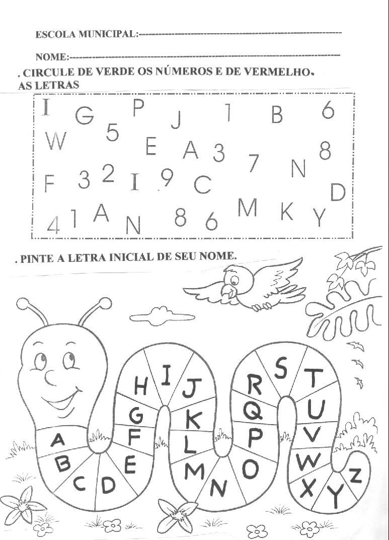 Excepcional ☆*•.¸ღ¸.• FormEduca☆*•.¸ღ¸.•☆: Trabalhando o alfabeto EJ39