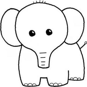 moncherrino desenhos para colorir elefante