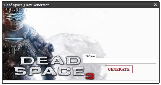 Dead Space 3 Key Generator