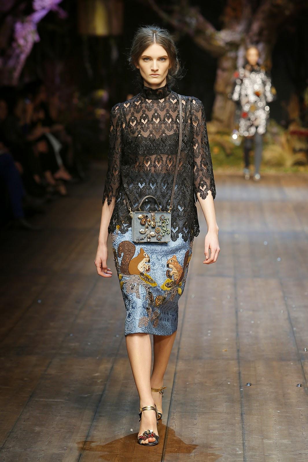 http://www.dolcegabbana.com/woman/Dolce&Gabbana colecção outono inverno 2014-2015  árvores e esquilos