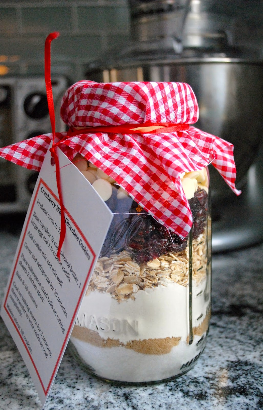 at home with ann: Mason Jar Cranberry White Chocolate Cookies