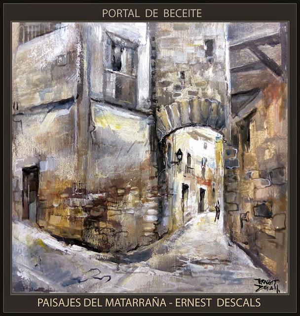 MATARRAÑA-PINTURA-MATARRANYA-BECEITE-PORTAL-PUEBLOS-TERUEL-CUADROS-ARTISTA-PINTOR-ERNEST DESCALS-
