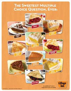 rows · Village Inn's Free Pie Wednesday(TM) At Village Inn, they celebrate the famous hump .