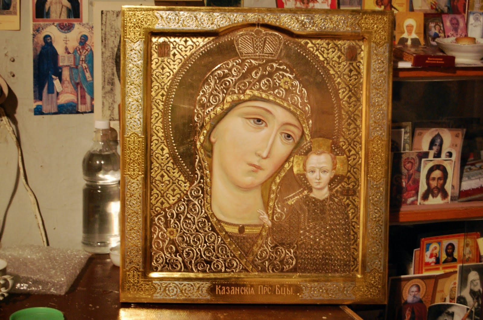 The Holy Mother of God Kazanskia, by Irina Veselkina Russia versta-K.ru