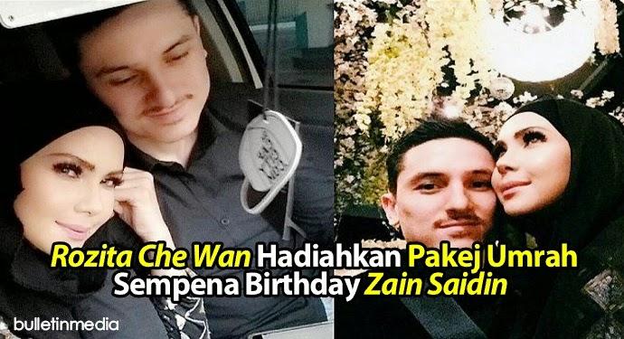 Rozita Che Wan Hadiahkan Pakej Umrah Sempena Birthday Zain Saidin