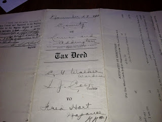 Olive Tree Genealogy Blog: Genealogy Treasure No. 15: Tax Deed 1938 Hart