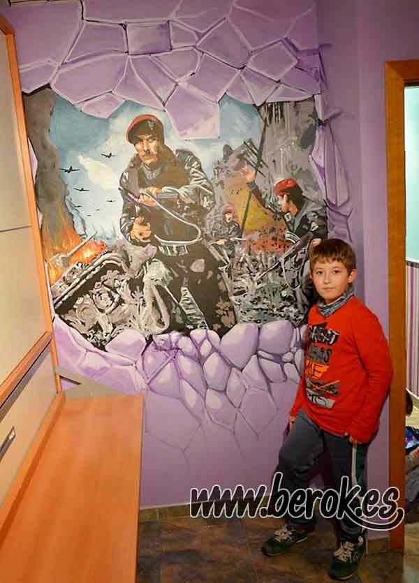 Mural de Call of duty pintado en habitación