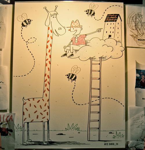 Dibujando en vivo en la feria del libro infantil 2