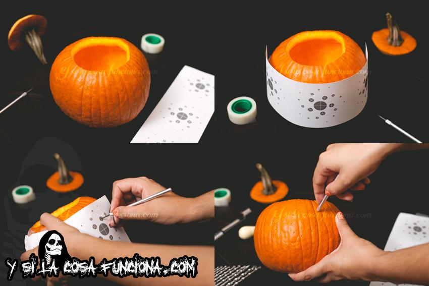 Marcar dibujo para decorar calabaza