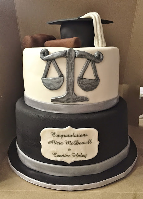 Cakes By Mindy Law School Graduation Cake 8 Quot Amp 10 Quot