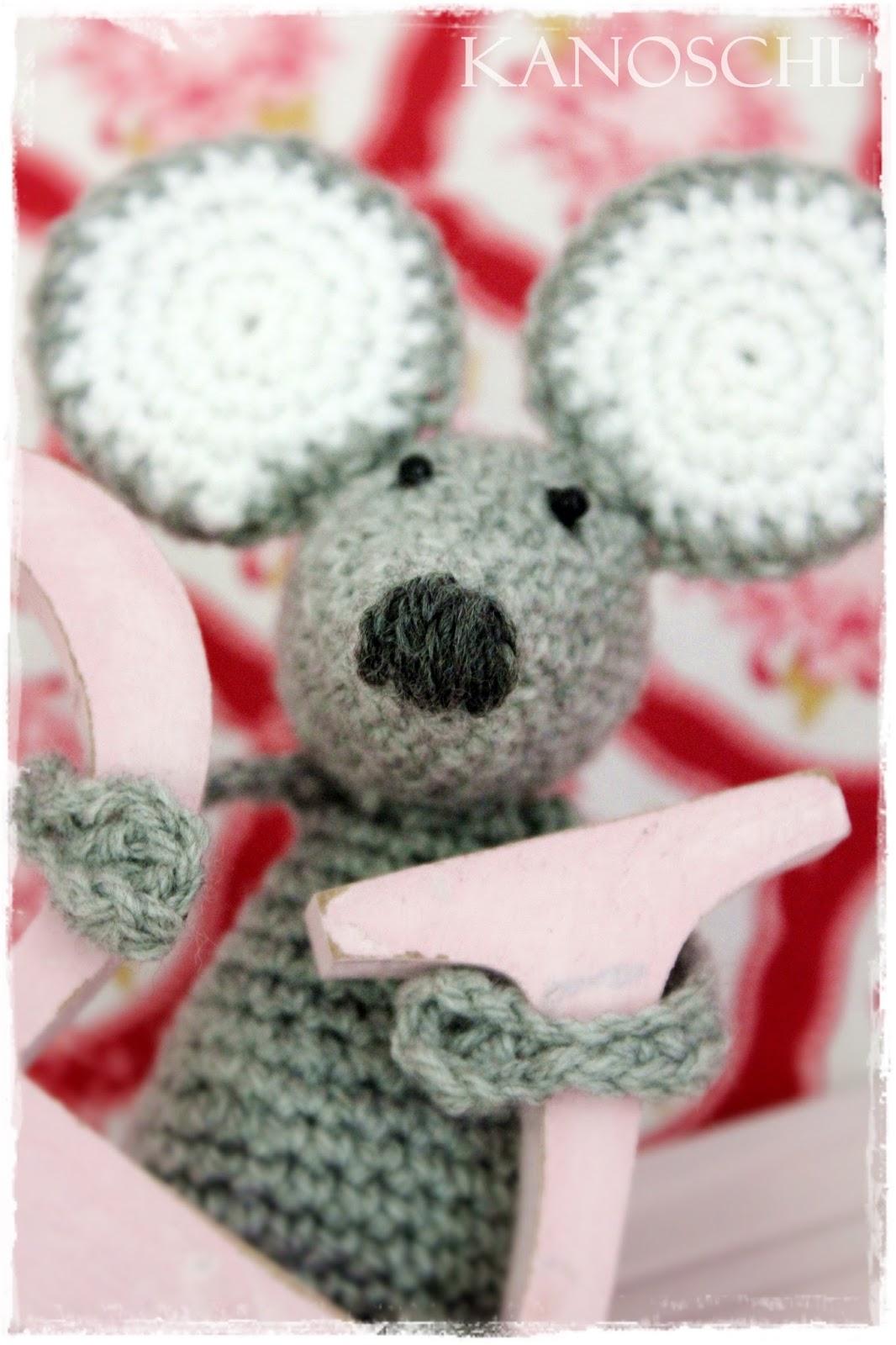 gehäkelte Maus