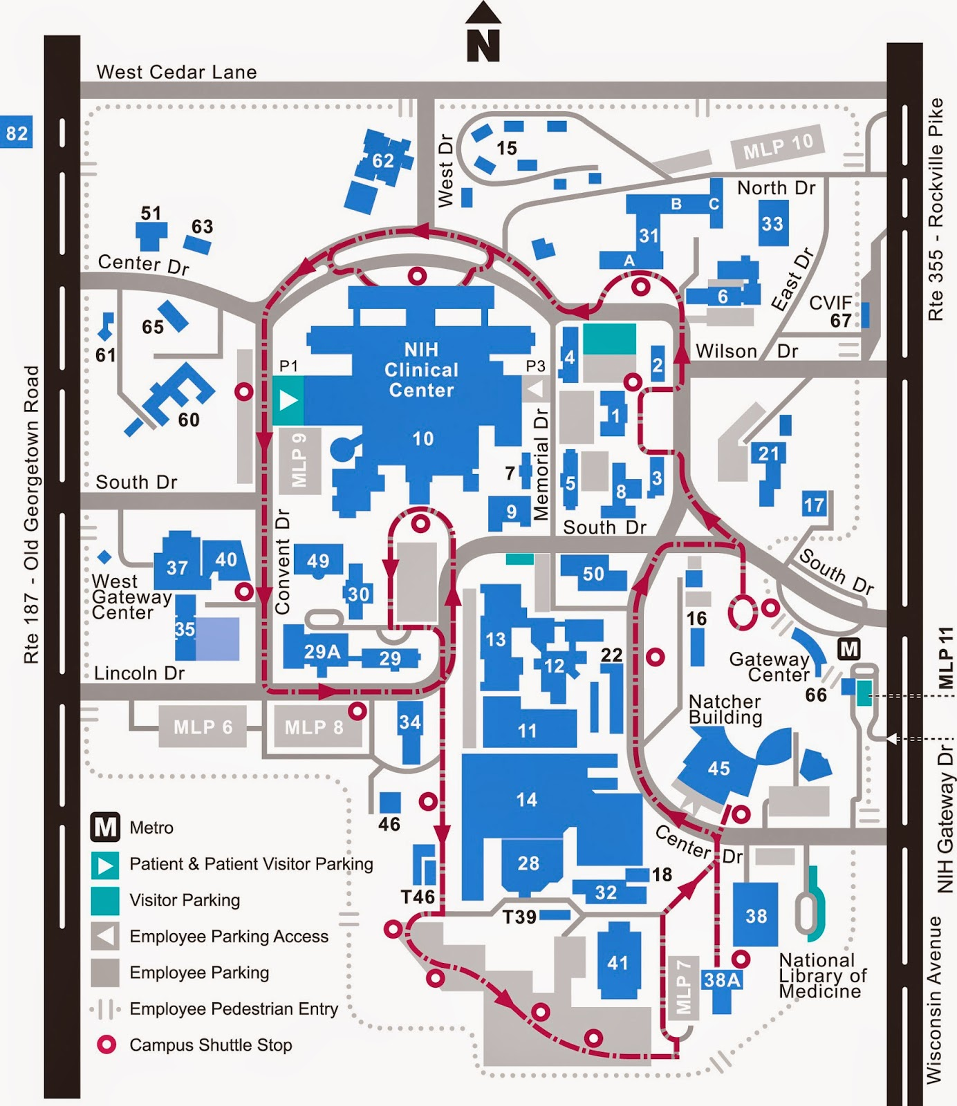 NIH Campus Map