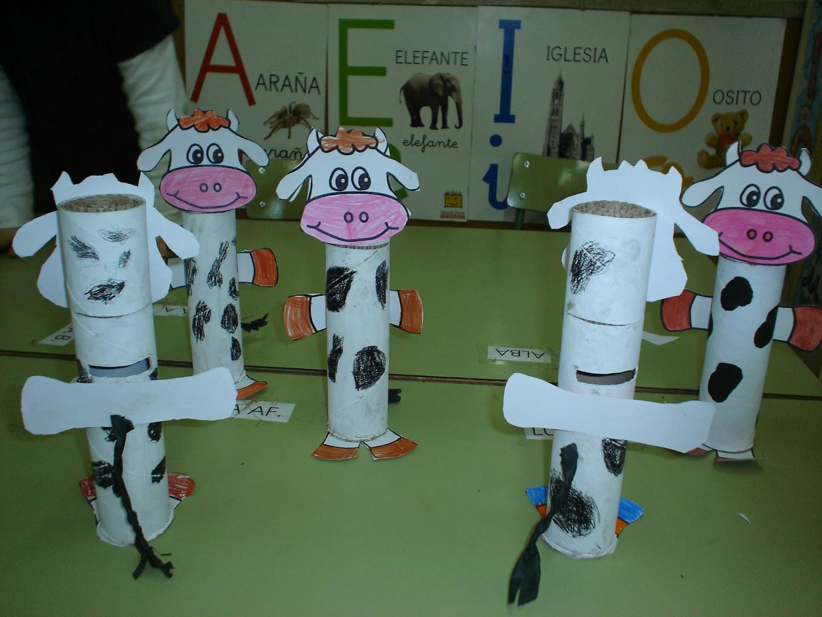 manualidades de vacas imagui