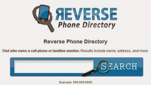 Reverse cellular phone lookup