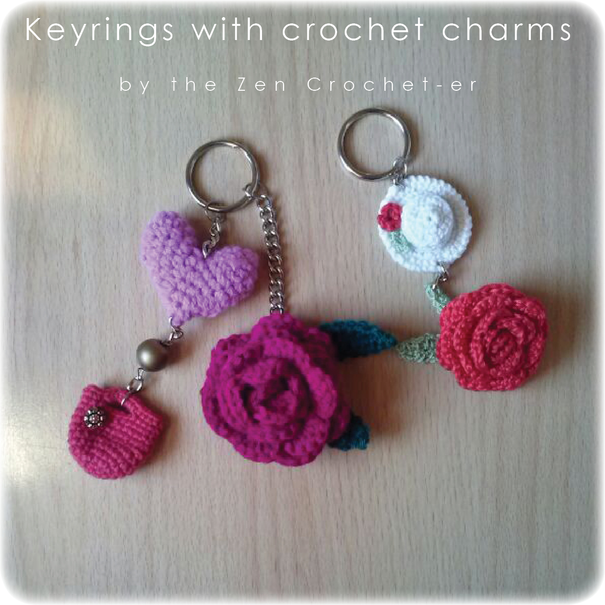 Crochet Keychain : The Zen Crocheter