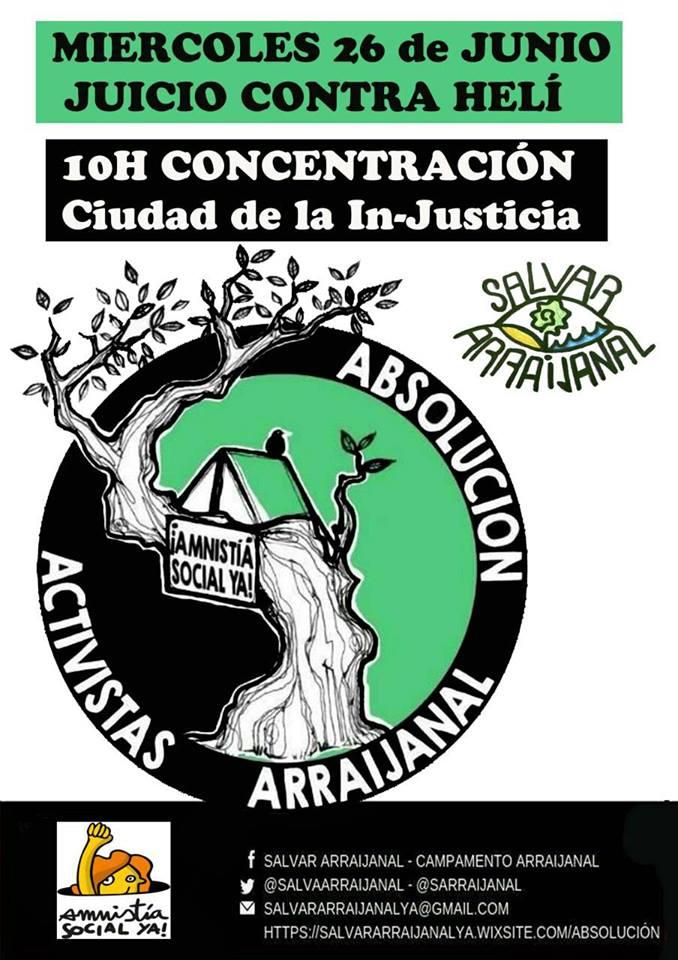CONCENTRACIÓN APOYO ECOLOGISTAS REPRESALIAD@S