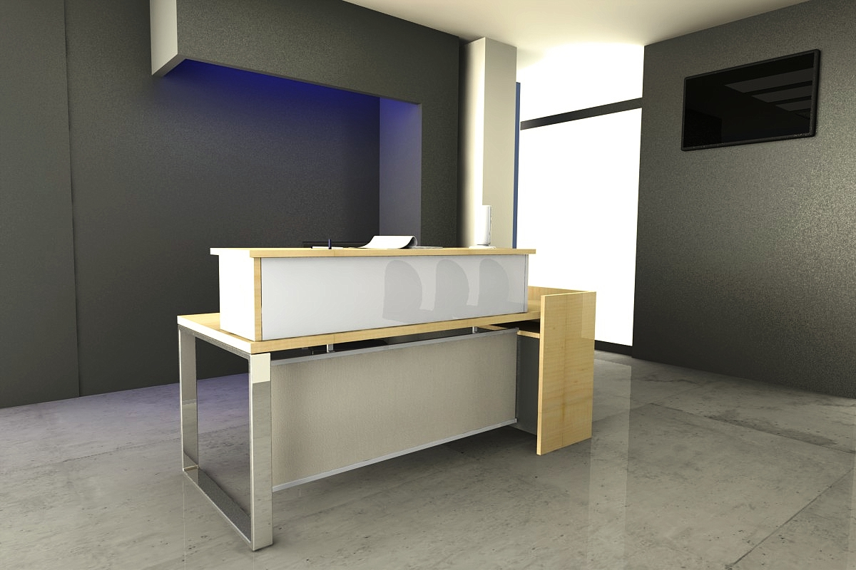 This A Mini Reception Counter I Designed For Small Office Or Shops.