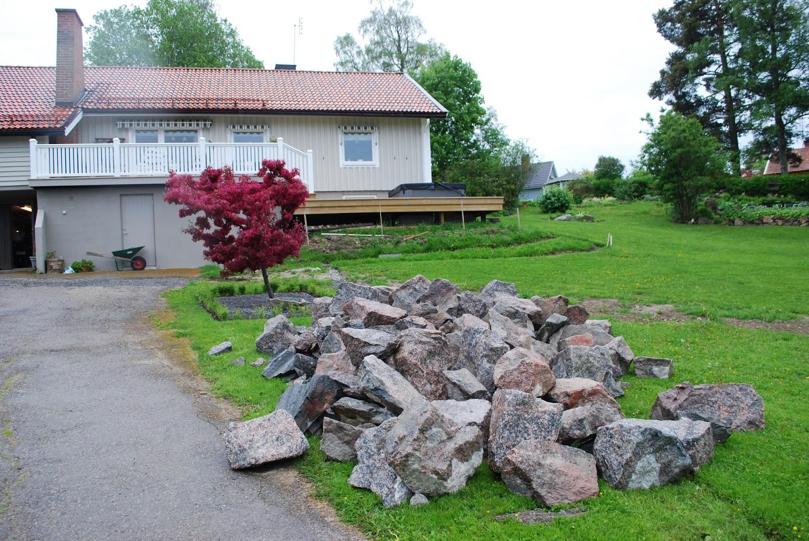 Merjas Trädgård: Stenmur