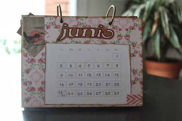 Calendario scrapbooking junio