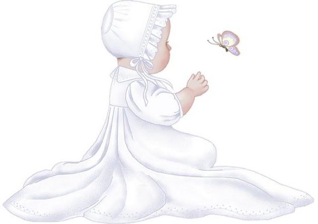 Imagen bebe bautizo para imprimir