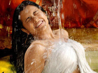 trisha bathing