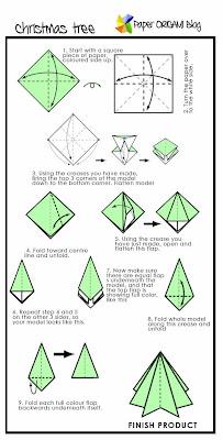 Pine tree Origami