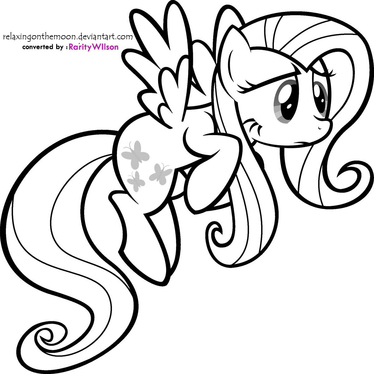 Fluttershy On Pinterest Fluttershy Coloring Page