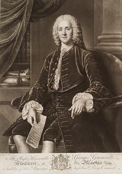 George Grenville by Richard Houston, after William Hoare, 1750-55