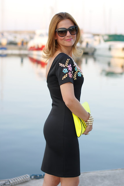 summer outfit, elegant black bodycon mini dress, Chi Chi London, Fashion and Cookies, fashion blogger italiana