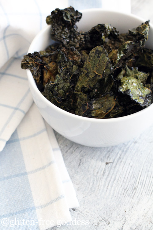 Gluten-Free Goddess Recipes: Easy Crispy Baked Kale Chips