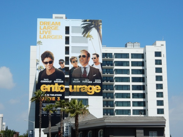 Giant Entourage movie billboard Sunset Strip