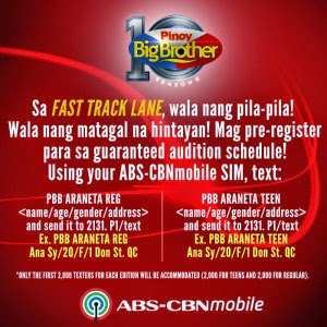 PBB Fast Track Lane abs-cbn mobile
