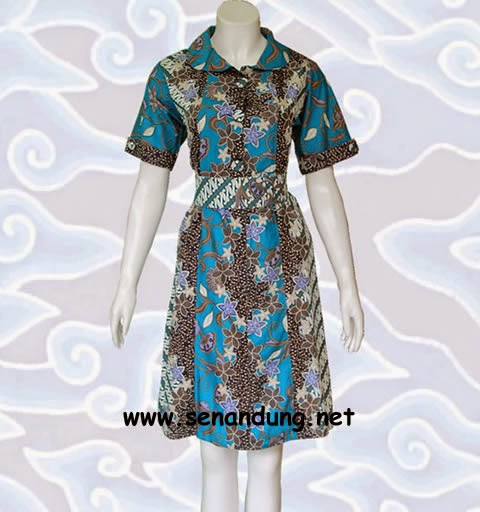 baju dress batik cantik