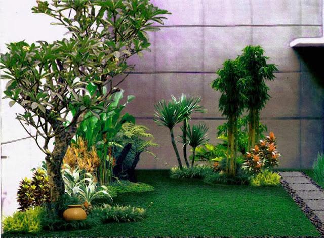cara membuat menata taman minimalis di lahan sempit