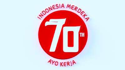 Logo hut RI ke 70 3d