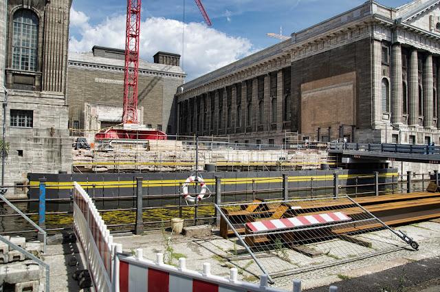 Baustelle Eingang Pergamon Museum, Am Kupfergraben, Bodestraße 1-3, 10178 Berlin, 01.08.2014