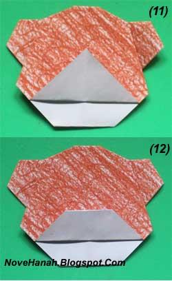 cara melipat kertas origami untuk membuat origami wajah beruang. Origami wajah beruang ini sangat cocok untuk diajarkan untuk anak-anak yang duduk di kelas rendah (1, 2, dan 3) SD. 7