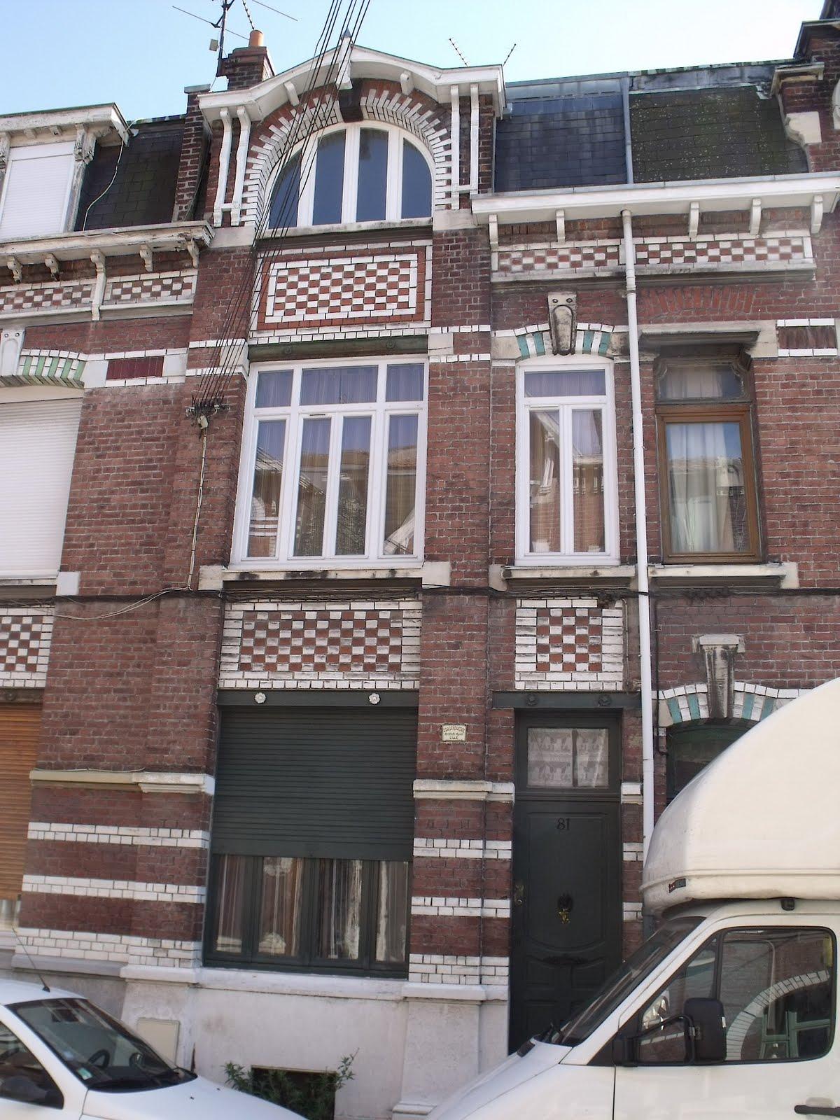 Lille, l\'art nouveau et l\'art déco: Lille Fives, Rue Jenner