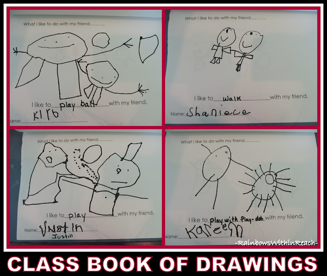 photo of: Class Book of Preschool Drawings on Friendship via RainbowsWithinReach