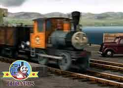 Thomas the tank engine character Bash the tank engine 2011 Thomas misty Island Rescue DVD CGI movie