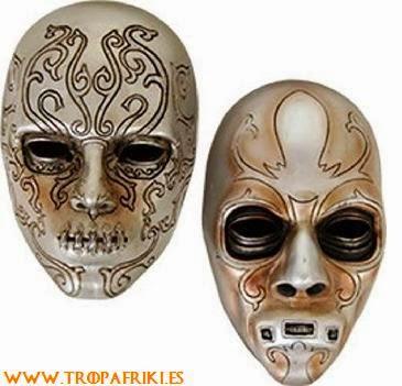 Máscara mortífago Bellatrix Harry Potter 7,99€ (el pack con las 2 de la foto)