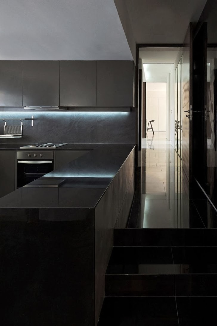 Ultra modern black kitchen
