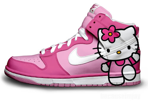 Hello Kitty Nike Dunk Shoes